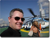 training business owners - Brad with helicopter